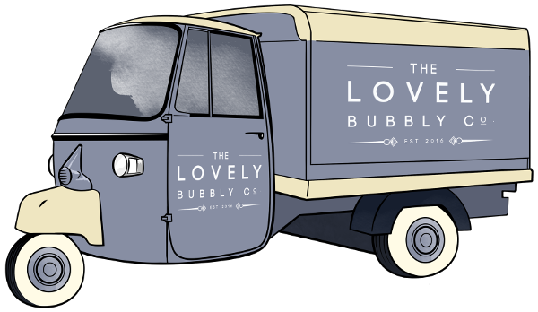 the lovely bubbly co prosecco van